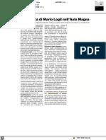L'impronta di Mario Logli nell'Aula Magna - Il Resto del Carlino del 10 giugno 2021