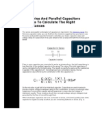 The Series And Parallel Capacitors Formula To Calculate The Right Capacitances