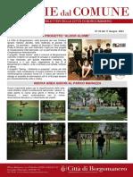 Notizie Dal Comune di Borgomanero dell'11-06-2021