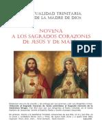 novena Sagrados Corazones Jesús y María