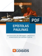 Epístolas Paulinas | Curso de Teologia 100% Online | Instituto de Teologia Logos