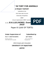 Liability in Tort for Animals