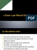 Zone - Acte II (Présentation Et Analyse)