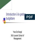 introduction à la gestion budgetaire