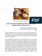PCP - Elecciones Generales Del Perú, 2021. Segunda y Última Vuelta de Tuerca.