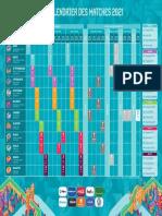 Le calendrier de l'Euro 2020