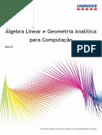 Álgebra Linear e Geometria Analítica 2
