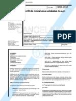 NBR 06657 - 1981 - Perfil de Estruturas Soldadas de Aço - Norma Cancelada