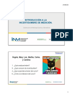 P00 Introducción a La Incertidumbre de Medición V2019