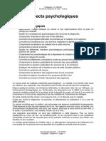ASPECTS PSYCHOLOGIQUES DU CANCER (25 Pages - 172 Ko)