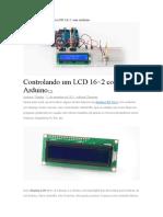 Arduino Controlando Um LCD 16