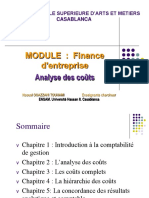 ANALYSE DES COUTS
