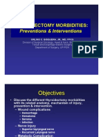 THYROIDECTOMY MORBIDITIES