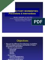 THYROIDECTOMY MORBIDITIES