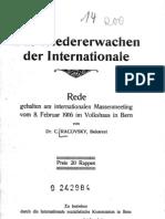 Christian Racovsky - Das Wiedererwachen der Internationale (1916)