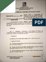 Decreto de nomeação de pregoeira de Almeirim
