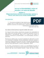 Módulo 2 - Diagramaciones nuevas y provisorias_ pensar y hacer con otros en la trama institucional
