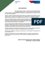Junio 11 - Declaracion Resultado Electoral Peru