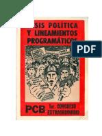 Tesis Politica y Lineamientos Programaticos(2)