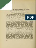 Nietzsche - ''Wie Ist Der Goethische Spruch Zu Erklären'' 1863