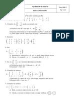 Matrices y Determinantes 10 - 11