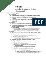 Regulatory State Final Outline