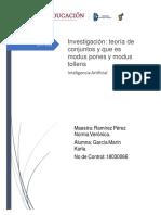 Investigación Teoria de Conjuntos y Que Es Modus Pones y Modus Tollens