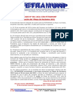 COMUNICADO 001-2021-FETRAMUNP (Presentar Pliego de reclamos 2021)