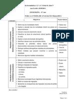 Objectivos 4.ª ficha de avaliação_8.º ano