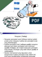 Testing dan impementasi sistem informasi