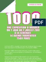 Invader // Exhibition in Paris // 1000