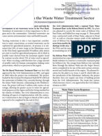 Progress Report on the Waste Water Treatment Sector