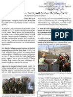 Progress Report on Transport Sector Development