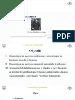 MALADIE D'ALZHEIMER PRESENTATION
