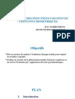EVALUATION DES FONCTIONS COGNITIVES