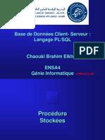 5 Langage PLSQL Procedure Fonction