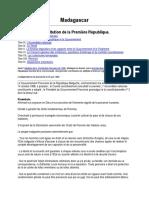 Constitution de la première republique de Madagascar