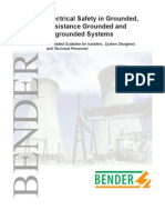 Electrical safety in Grounded, Resistance Grounded and UG Systems