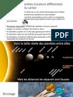 Bricolage Atelier Planetes