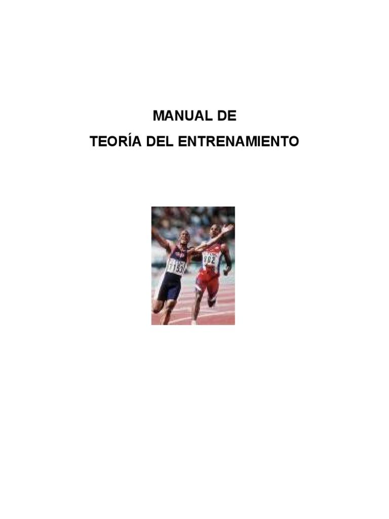MANUAL DE TEORIA DE ENTRENAMIENTO