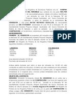 CONTRATO DE COMPRA VENTA DE CASA