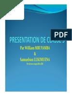 6.Presentation de La Classe 5