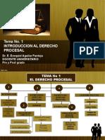TEMA 1 INTRODUCCION AL DERECHO PROCESAL  Dr.Aguilar (2)