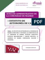 TEMA 2 CAM ESTATUTO DE AUTONOMÍA