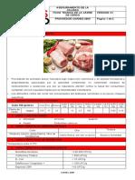 Ficha Tecnica de La Carne de Cerdo