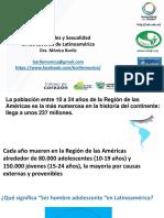 Masculinidades y Sexualidad en Jóvenes Latinoamericanos. Dra. Mónica Borile