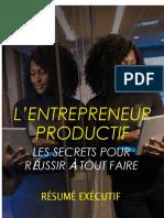 The Productive Entrepreneur - Executive Summary-FR