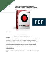 Bandicam v5.0.2.1813 Multilenguaje (Incl. Español), Grabación Para Captura de Pantalla, Juegos y Cámaras Web.