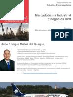 Mercadotecnia Industrial y Negocios B2B - Julio Enrique Muñoz del Bosque - Junio 2020.