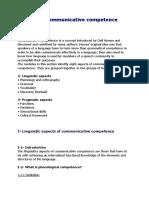 Aspects of Communicative Competence
